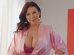 heavy chested MILF fucks her son`s friend